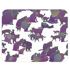 Many Cats Silhouettes Texture Double Sided Flano Blanket (medium)  by Amaryn4rt