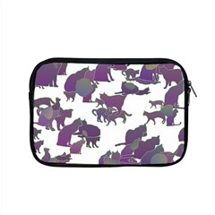 Many Cats Silhouettes Texture Apple Macbook Pro 15  Zipper Case by Amaryn4rt