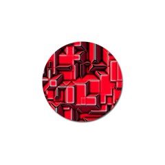 Background With Red Texture Blocks Golf Ball Marker by Amaryn4rt