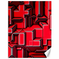 Background With Red Texture Blocks Canvas 36  X 48   by Amaryn4rt