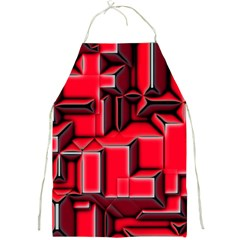 Background With Red Texture Blocks Full Print Aprons by Amaryn4rt