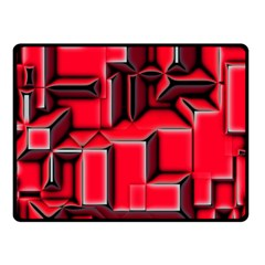 Background With Red Texture Blocks Fleece Blanket (small) by Amaryn4rt