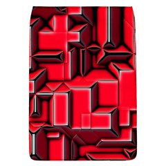 Background With Red Texture Blocks Flap Covers (l)  by Amaryn4rt