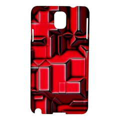 Background With Red Texture Blocks Samsung Galaxy Note 3 N9005 Hardshell Case by Amaryn4rt