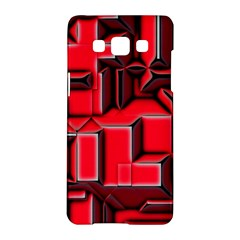 Background With Red Texture Blocks Samsung Galaxy A5 Hardshell Case  by Amaryn4rt