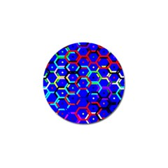 Blue Bee Hive Pattern Golf Ball Marker (10 Pack) by Amaryn4rt