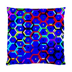 Blue Bee Hive Pattern Standard Cushion Case (two Sides) by Amaryn4rt