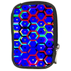 Blue Bee Hive Pattern Compact Camera Cases by Amaryn4rt