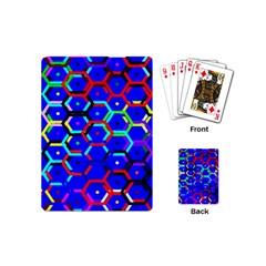 Blue Bee Hive Pattern Playing Cards (mini)  by Amaryn4rt
