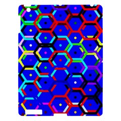 Blue Bee Hive Pattern Apple Ipad 3/4 Hardshell Case by Amaryn4rt