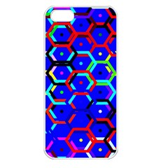Blue Bee Hive Pattern Apple Iphone 5 Seamless Case (white) by Amaryn4rt
