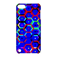 Blue Bee Hive Pattern Apple Ipod Touch 5 Hardshell Case With Stand by Amaryn4rt