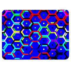 Blue Bee Hive Pattern Samsung Galaxy Tab 7  P1000 Flip Case by Amaryn4rt