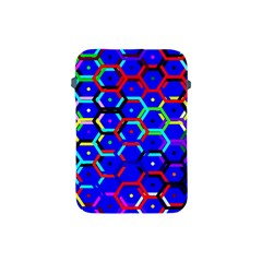 Blue Bee Hive Pattern Apple Ipad Mini Protective Soft Cases by Amaryn4rt