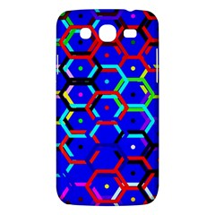 Blue Bee Hive Pattern Samsung Galaxy Mega 5 8 I9152 Hardshell Case  by Amaryn4rt