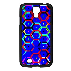 Blue Bee Hive Pattern Samsung Galaxy S4 I9500/ I9505 Case (black) by Amaryn4rt