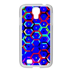 Blue Bee Hive Pattern Samsung Galaxy S4 I9500/ I9505 Case (white) by Amaryn4rt
