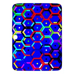 Blue Bee Hive Pattern Samsung Galaxy Tab 3 (10 1 ) P5200 Hardshell Case  by Amaryn4rt
