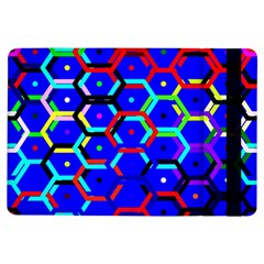 Blue Bee Hive Pattern Ipad Air Flip by Amaryn4rt