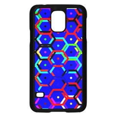 Blue Bee Hive Pattern Samsung Galaxy S5 Case (black) by Amaryn4rt