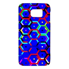Blue Bee Hive Pattern Galaxy S6 by Amaryn4rt