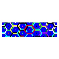Blue Bee Hive Pattern Satin Scarf (oblong) by Amaryn4rt
