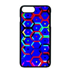 Blue Bee Hive Pattern Apple Iphone 7 Plus Seamless Case (black) by Amaryn4rt