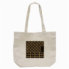 Black And Gold Buttons And Bars Depicting The Signs Of The Astrology Symbols Tote Bag (cream)