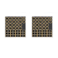 Black And Gold Buttons And Bars Depicting The Signs Of The Astrology Symbols Cufflinks (square) by Amaryn4rt