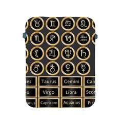 Black And Gold Buttons And Bars Depicting The Signs Of The Astrology Symbols Apple Ipad 2/3/4 Protective Soft Cases