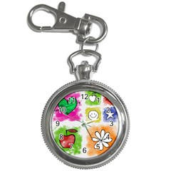 A Set Of Watercolour Icons Key Chain Watches by Amaryn4rt