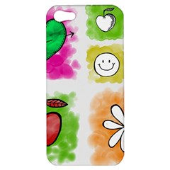 A Set Of Watercolour Icons Apple Iphone 5 Hardshell Case by Amaryn4rt
