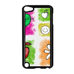 A Set Of Watercolour Icons Apple Ipod Touch 5 Case (black) by Amaryn4rt
