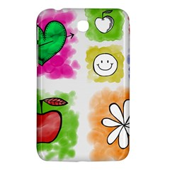 A Set Of Watercolour Icons Samsung Galaxy Tab 3 (7 ) P3200 Hardshell Case  by Amaryn4rt