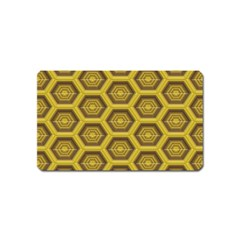 Golden 3d Hexagon Background Magnet (name Card) by Amaryn4rt