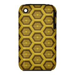 Golden 3d Hexagon Background Iphone 3s/3gs by Amaryn4rt
