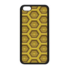 Golden 3d Hexagon Background Apple Iphone 5c Seamless Case (black) by Amaryn4rt