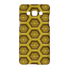 Golden 3d Hexagon Background Samsung Galaxy A5 Hardshell Case  by Amaryn4rt