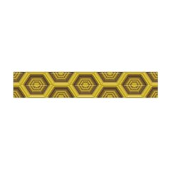 Golden 3d Hexagon Background Flano Scarf (mini) by Amaryn4rt