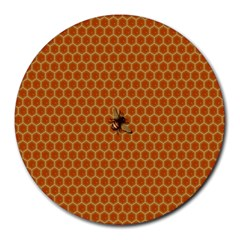 The Lonely Bee Round Mousepads by Amaryn4rt