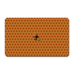 The Lonely Bee Magnet (rectangular) by Amaryn4rt