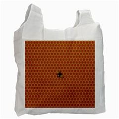 The Lonely Bee Recycle Bag (one Side) by Amaryn4rt