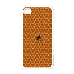 The Lonely Bee Apple Iphone 4 Case (white) by Amaryn4rt