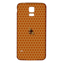 The Lonely Bee Samsung Galaxy S5 Back Case (white) by Amaryn4rt