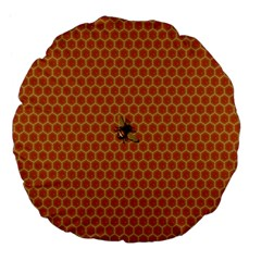 The Lonely Bee Large 18  Premium Flano Round Cushions by Amaryn4rt