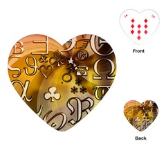Symbols On Gradient Background Embossed Playing Cards (heart)  by Amaryn4rt