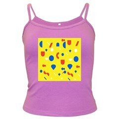 Circle Triangle Red Blue Yellow White Sign Dark Spaghetti Tank
