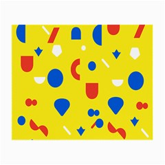 Circle Triangle Red Blue Yellow White Sign Small Glasses Cloth (2 Side) by Alisyart