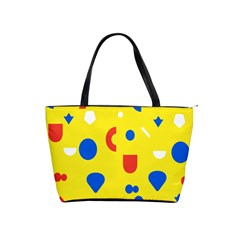 Circle Triangle Red Blue Yellow White Sign Shoulder Handbags by Alisyart