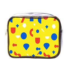 Circle Triangle Red Blue Yellow White Sign Mini Toiletries Bags by Alisyart